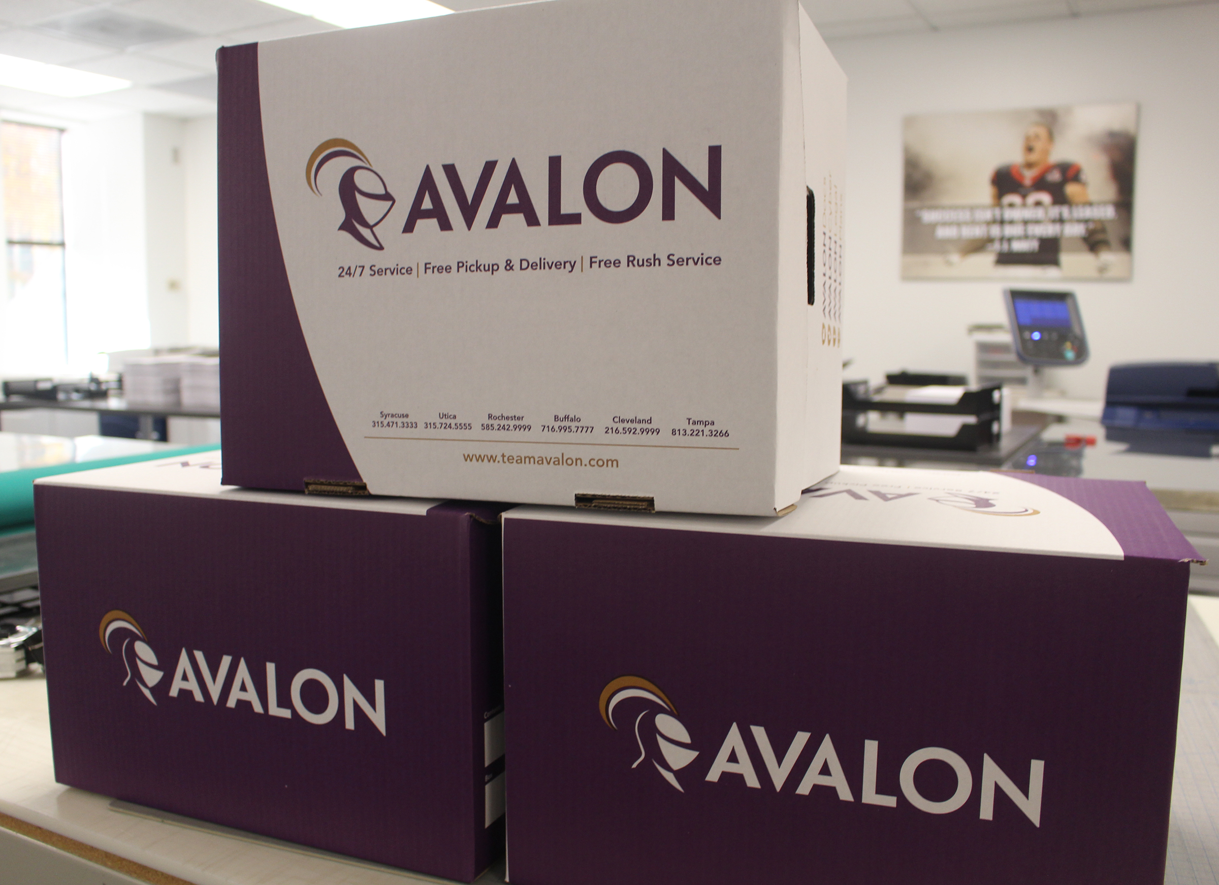 Avalon Legal – which has operated under the Special Counsel, D4 or Omaha Legal Services monikers – offers a full range of litigation support services, including printing and mailing solutions. (Photo by Scott Stewart)