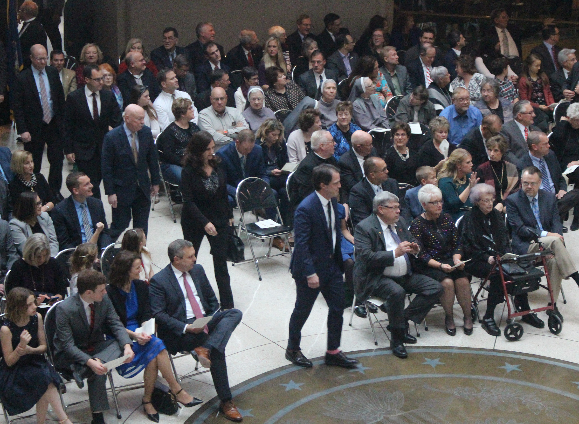 A processionals of judges and other dignities and judges began Brian C. Buescher's investiture ceremony at the Hruska Federal Courthouse on Friday, Nov. 15, 2019. (Photo by Scott Stewart)