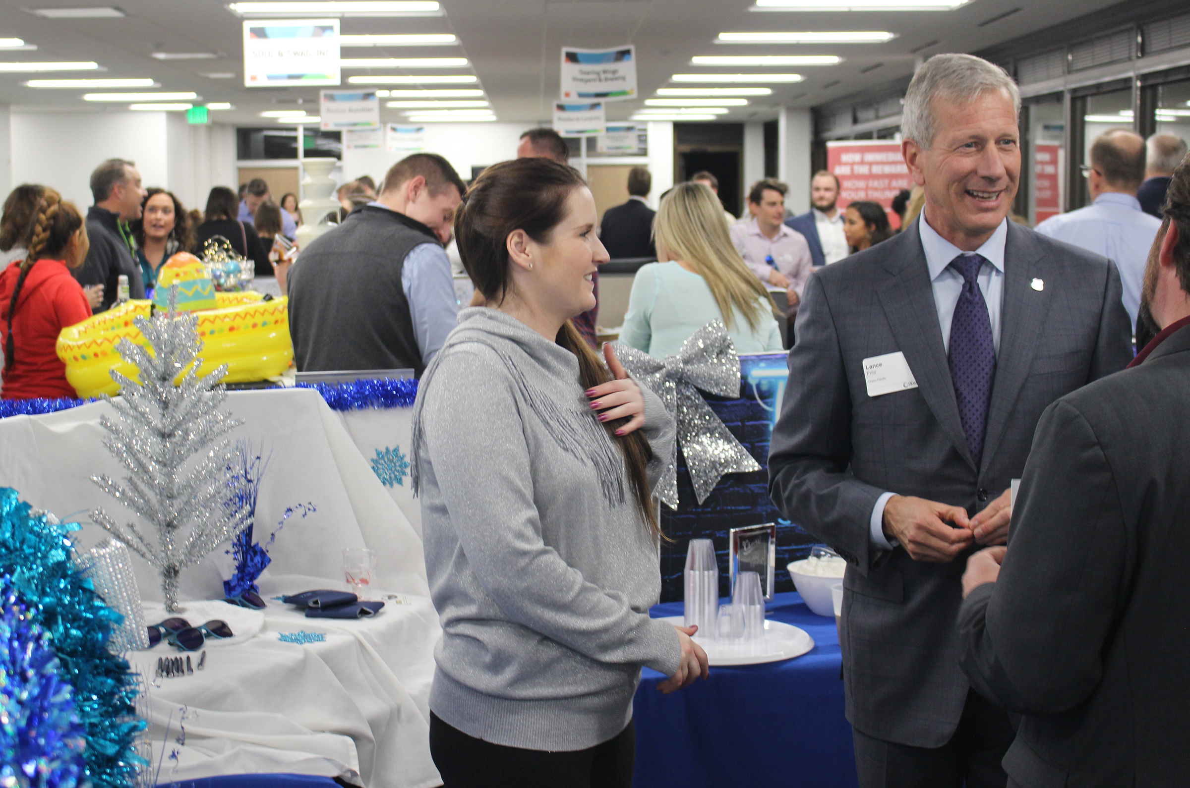 More than 500 chamber members attended the Greater Omaha Chamber Member Appreciation Holiday Open House on Thursday, Dec. 5, 2019. (Photo by Scott Stewart)