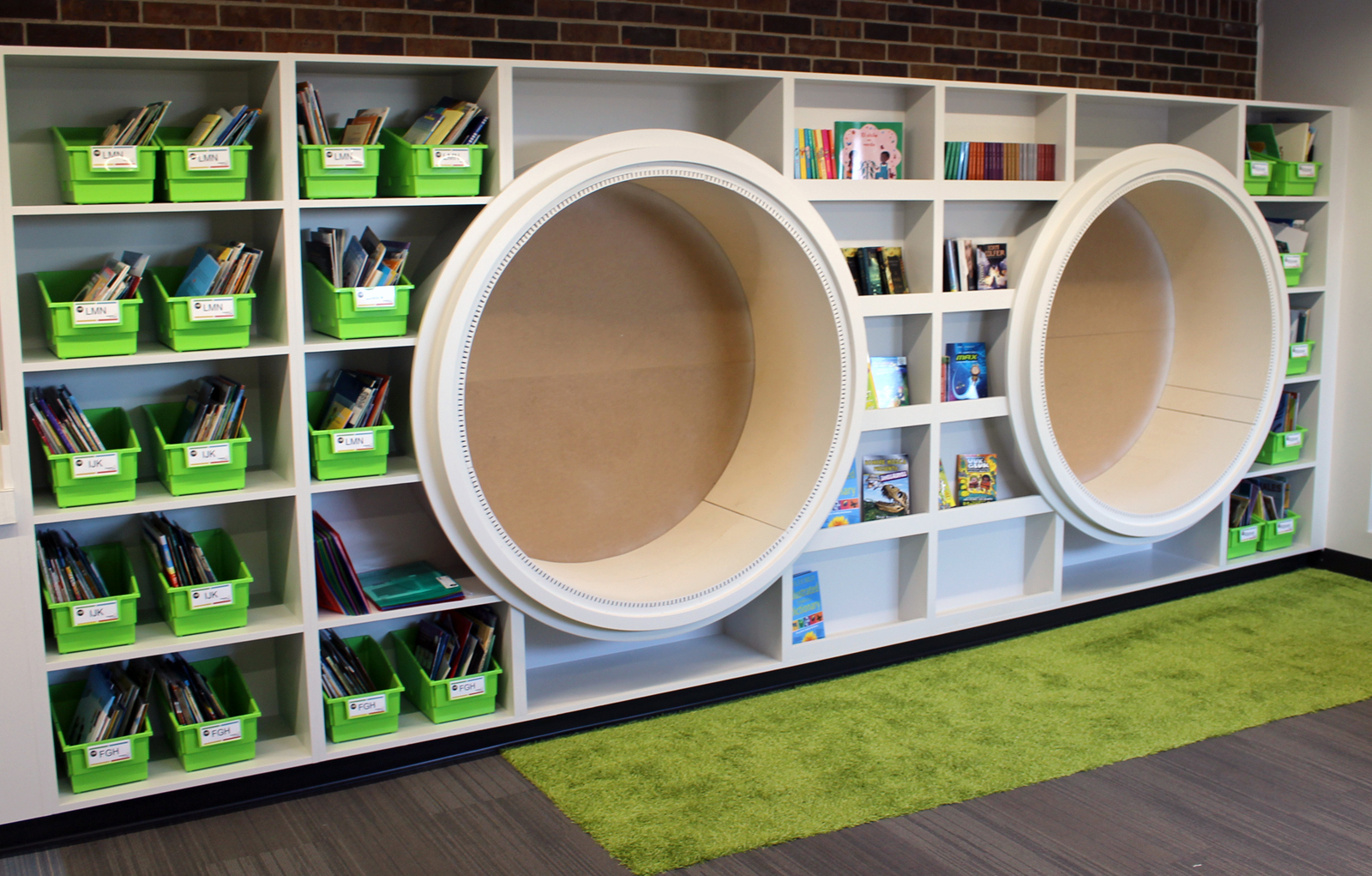 A new library, complete with learning nooks, is part of the expanded space at the Completely KIDS headquarters at 2566 St. Mary's Ave. (Photo by Scott Stewart)
