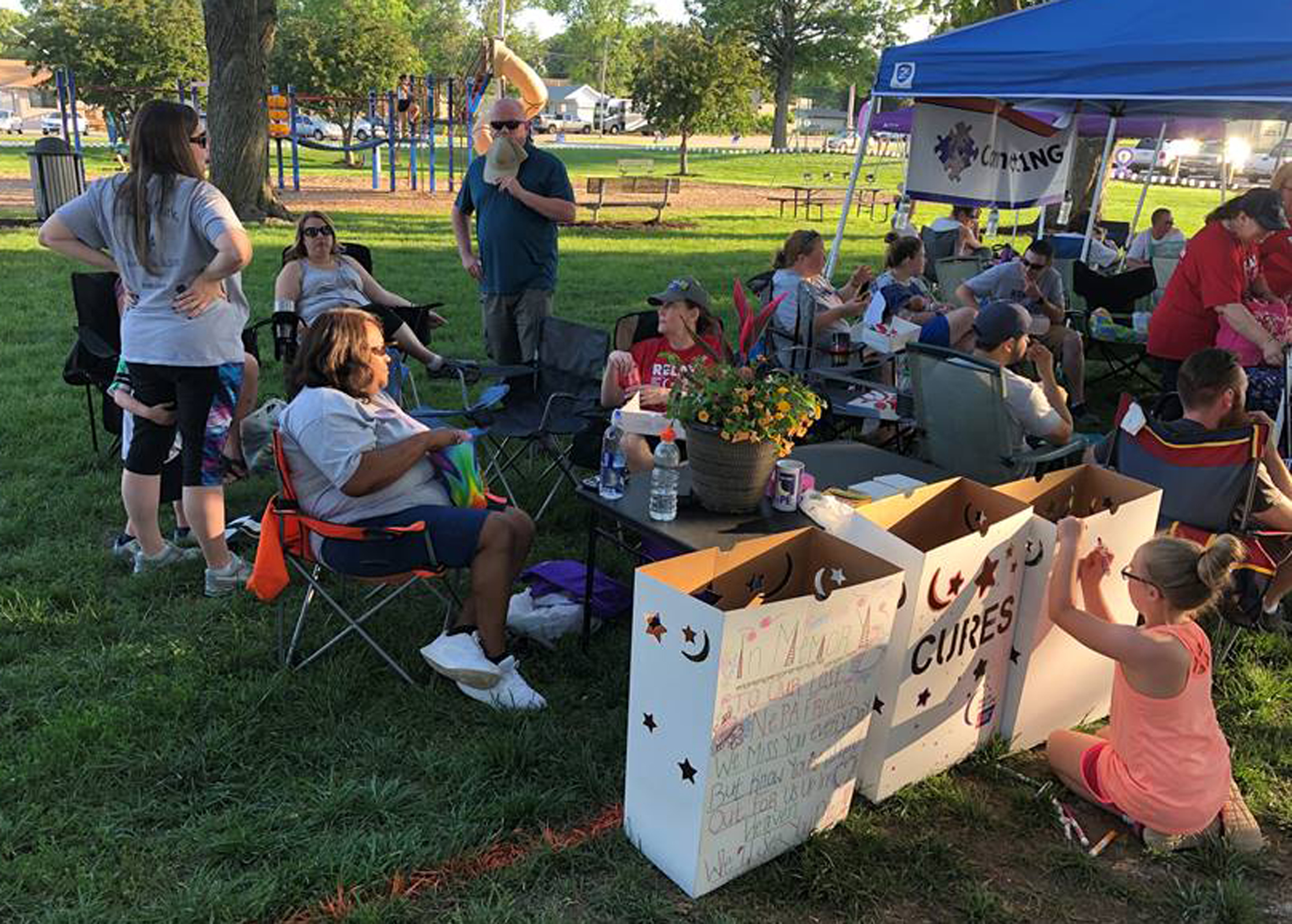 The Nebraska Paralegal Association team Legal Beagles raised $2,207 for the American Cancer Society at the Sarpy County Relay for Life on June 8, 2019, held at Papillion's City Park. (Courtesy Amber Roberts)
