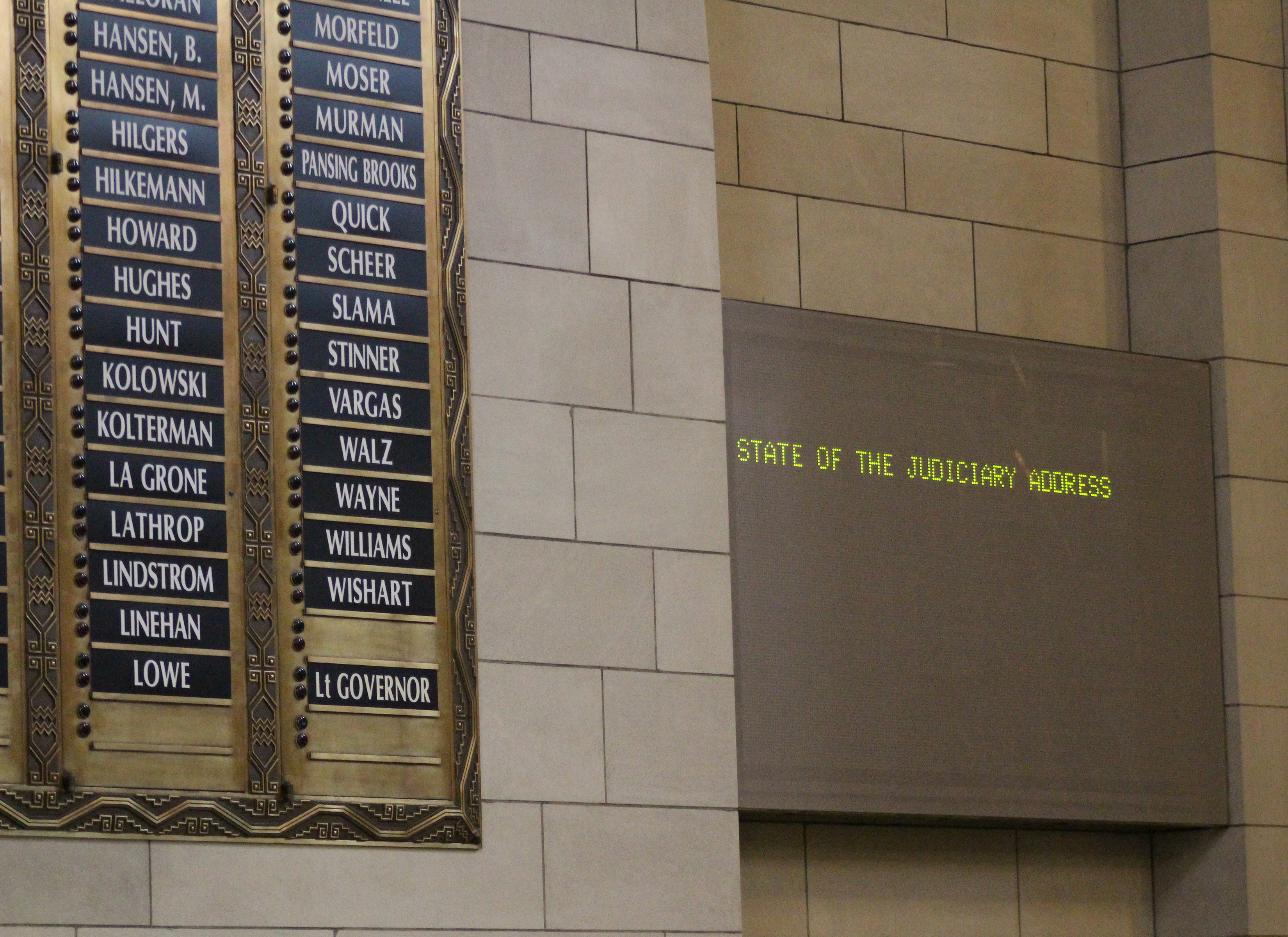The State of the Judiciary address was presented lawmakers at the Nebraska Legislature on Wednesday, Jan. 22, 2020. (Photo by Scott Stewart)