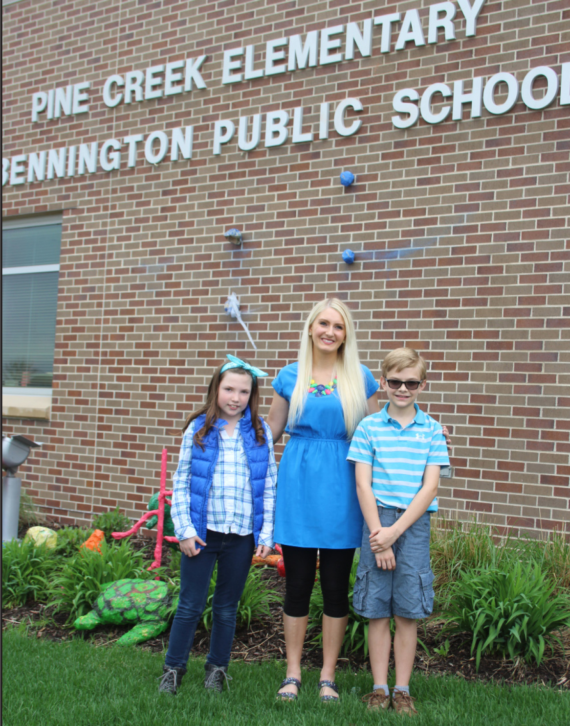Students Alexa Hall (first place) and Max Elwood (second place) at Bennington Elementary School, taught by Mrs. Kathleen Cannon.