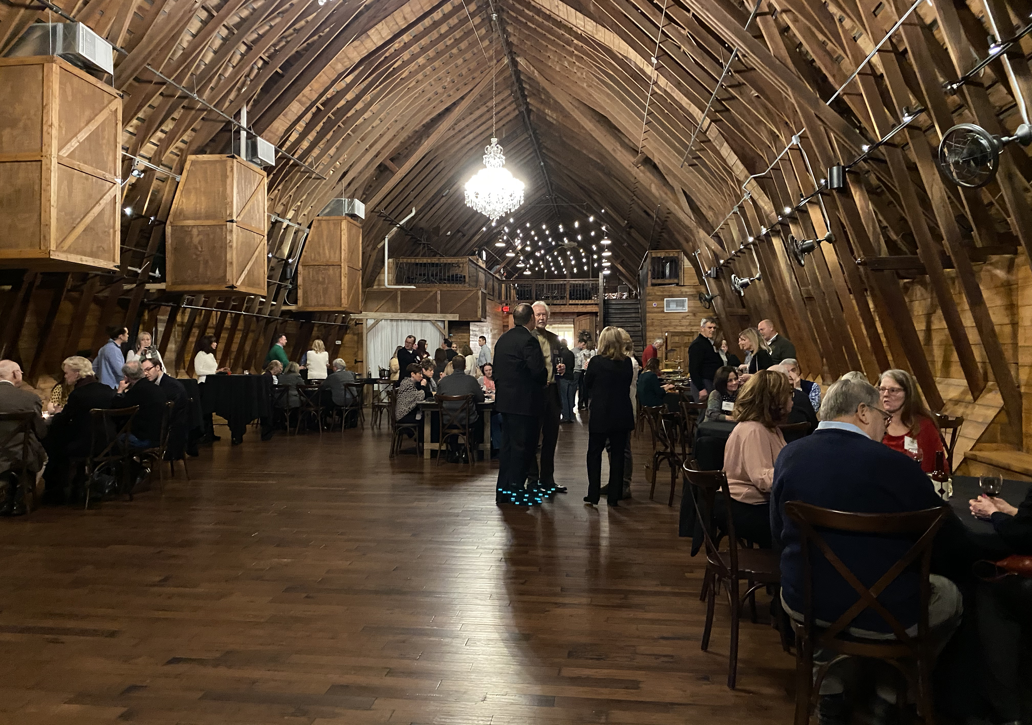 Omaha Bar Association members and their guests filled The Bar at Ackerhurst Dairy Farm for the 20th annual OBA Wine Tasting event Friday, Jan. 24, 2020. (Photo by Scott Stewart)