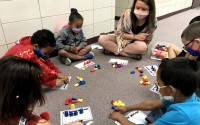 In the file photos shown from the 2020-21 school year, kindergarten students participate in WIN — short for What I Need —Time. WIN Time gives students additional time outside class to work on something they're struggling with or to expand their knowledge in a specific area.  (Ralston Public Schools)