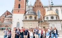 Members of Creighton's Nuremburg to The Hague Program pose for a photo in Krakow, Poland. (Courtesy Creighton Law)