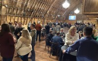 Omaha Bar Association members and their guests filled The Bar at Ackerhurst Dairy Farm for the 20th annual OBA Wine Tasting event Friday, Jan. 24, 2020. (Scott Stewart/Daily Record)