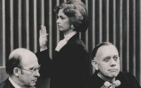 Stephanie Seymour is sworn into the 10th Circuit Court of Appeals in 1979. (Photos courtesy Stephanie Seymour via U.S. Courts)