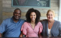Kya Brooks, pictured here alongside her parents, Christopher and Angie Brooks, will be attending Harvard University in the fall. (David Golbitz/Daily Record)