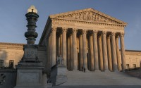 The Supreme Court is seen as sundown in Washington, Nov. 5, 2020. (AP)
