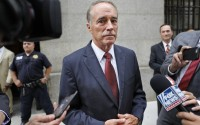 Former U.S. Rep. Chris Collins leaves the courthouse after a pretrial hearing in New York, Sept. 12, 2019. (AP)
