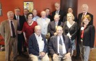 "Past presidents of the Omaha Bar Association dating from the 1980s through the present day pose for a portrait during the 2019 President's Reception held June 4 at Thunderhead Brewing in the Old Market. Pictured in the first row seated, from left, are Lyle E. Strom (1980-81) and J. Terry Macnamara (1987-88). Pictured in the second, from left, are Michael F. Kinney (2003-04), Jennifer R. Petersen (2012-13), Wayne J. Mark (1999-00), D.C. ""Woody"" Bradford III (1992-93), Denise A. Hill (2002-03) and Amy L. Long"