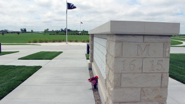 A National League of Families POW/MIA flag represents remembrance of those servicemembers who were prisoners of war or missing in action. (Photo by Scott Stewart)